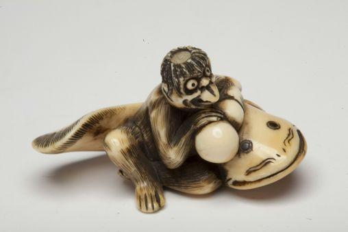 Каппа, пытающийся поймать сома в тыкву-горлянку (видимо как раз показывает описанный тип практиков :-)